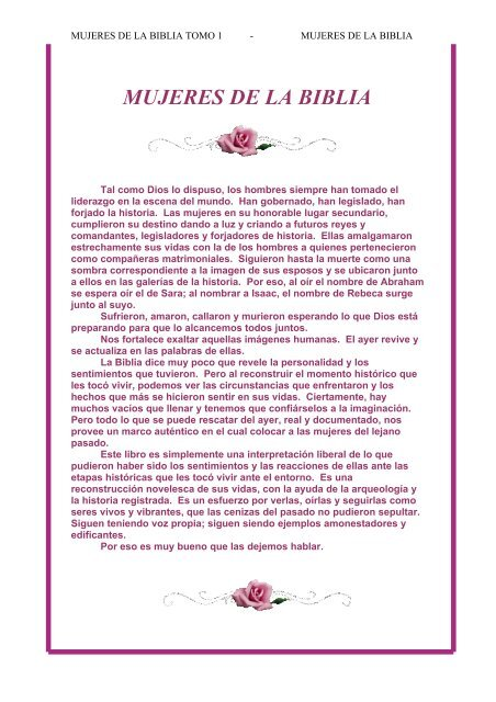 Mujeres de La Biblia 1 Alef Guimel - Escritores Teocráticos net