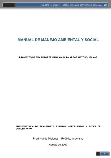 MANUAL DE MANEJO AMBIENTAL Y SOCIAL - ptuba