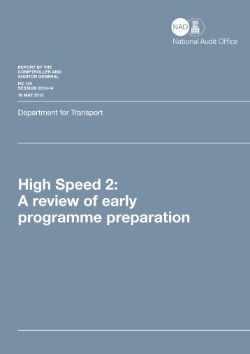 High Speed 2: A review of early programme preparation