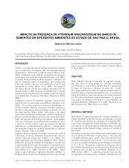impacto da presenc¸ a de pteridium arachnoideum no banco de ...