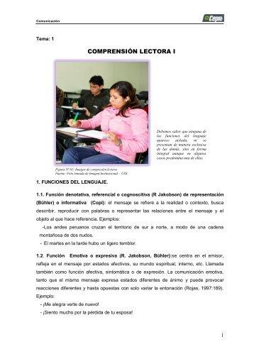 comprensión lectora i - Acceso al sistema - Universidad Señor de ...