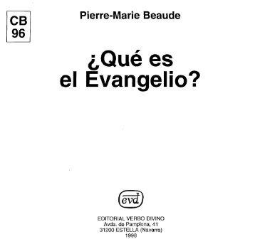 el Evangelio? - Comunidad de San Juan