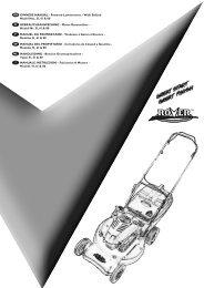 Powered Lawnmowers - Walk Behind Model Nos. 51, 61 ... - Rover