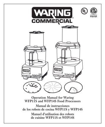 Waring user manuals | 247 catering supplies.