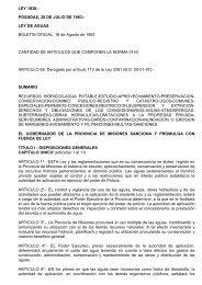 Ley Nº 1838 de Aguas de la Provincia - Inti