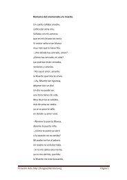 Romance del enamorado y la muerte. Un sueño ... - Proyecto Aula