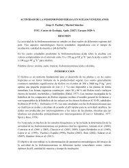 Actividad de la fosfomonoesterasa en suelos venezolanos.