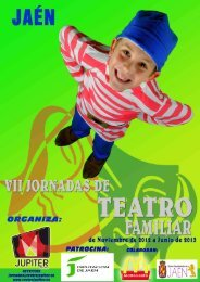 VII Jornadas de Teatro Familiar 2012-2013 para web - Teatro Jupiter