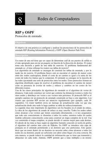 RIP y OSPF - Redes de Computadores