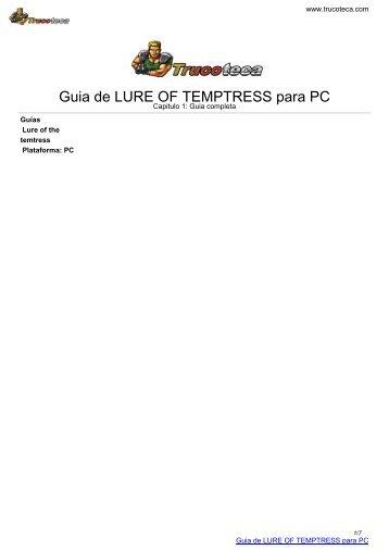 Guia de LURE OF TEMPTRESS para PC - Trucoteca.com