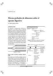 Efectos probados de alimentos sobre el aparato digestivo