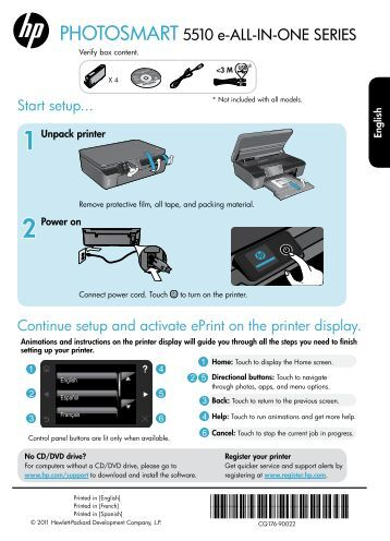 PHOTOSMART 5510 e-ALL-IN-ONE SERIES - HP