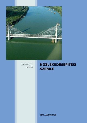közlekedésépítési szemle - Széchenyi István Egyetem
