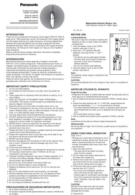 Matsushita Electric Works, Ltd. - Panasonic