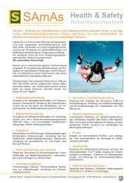 SAmAs Produktflyer Software für Arbeitsmedizin und Arbeitssicherheit