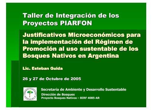 Presentación Lic E. Guida - Secretaria de Ambiente y Desarrollo ...