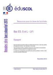 Sujet L, ES, S LV1 3 heures - Espagnol - Académie de Rouen