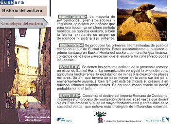 Cronología del euskera