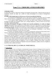 Tema 3 LA CRISIS DEL ANTIGUO RÉGIMEN