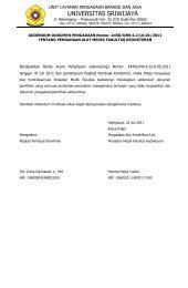 surat perjanjian kerja - Universitas Sriwijaya - Indralaya, Sumatera ...
