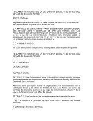 reglamento interior de la defensoria social y de oficio del estado de ...