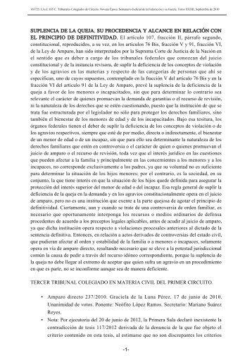 • • SUPLENCIA DE LA QUEJA. SU PROCEDENCIA Y ALCANCE EN ...