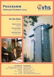 Programm Frühjahr / Sommer 2013 - Volkshochschule Saarlouis