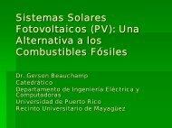 Sistemas Solares Fotovoltaicos (PV): Una Alternativa a los ...