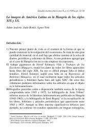 La imagen de América Latina en la Hungría de los siglos XIX y XX.