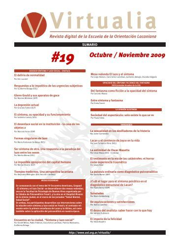 #19 Octubre / Noviembre 2009 - Virtualia