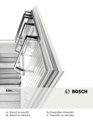 Bosch KGV 36VW30 Fridge Freezer Operating Instructions User ...