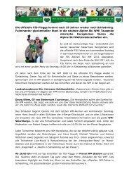 Pressetext Alpine Ski WM Einläuten - Schladming