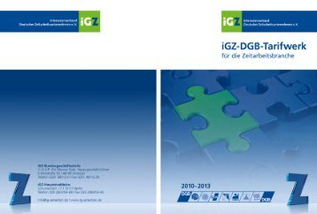 Tarifvertrag DGB/IGZ - Amadeus-Fire