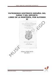 EL LIBRO DE LA MONTERÍA pdf - Museo del Juego