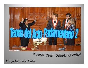 Teoria del Acto parlamentario 2 - Congreso de la República del Perú