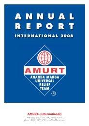 Annual Report 2008 International - Amurt