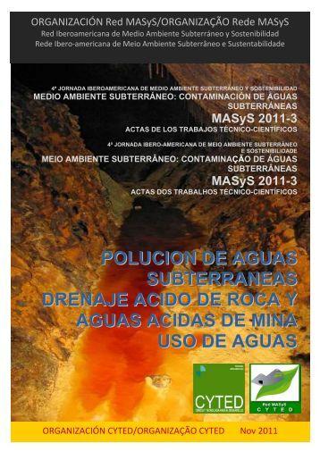 polucion de aguas subterraneas drenaje acido de roca y aguas ...
