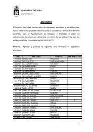 lista definitiva peón albañil - Ayuntamiento de Badajoz