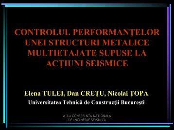 controlul performanţelor unei structuri metalice multietajate supuse ...
