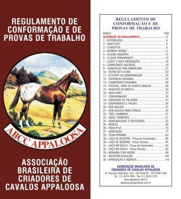 7. Consulte na Integra o Regulamento de ... - ABCCAppaloosa