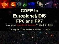 PDF file - Centre de données de la physique des plasmas. - Cesr
