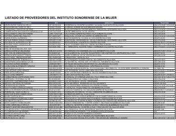 PROVEEDORES ISM-COMPLETOS 2010 - Gobierno del Estado de ...
