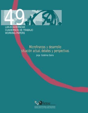 Microfinanzas y desarrollo: situación actual, debates y perspectivas ...