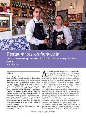 Restaurantes en franquicia - Mercasa