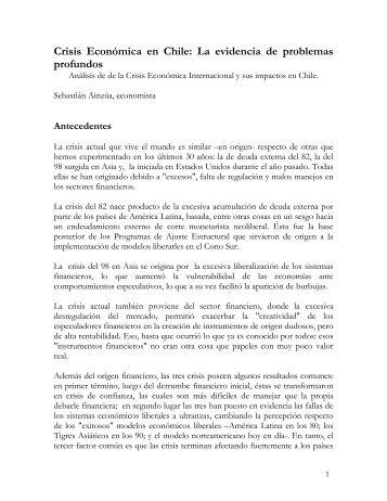 Crisis Económica en Chile: La evidencia de problemas profundos