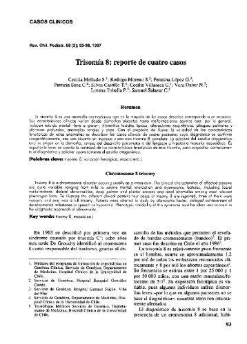 Trisomia 8: reporte de cuatro casos - SciELO