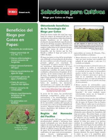 Beneficios del Riego por Goteo en Papas: - Toro Media