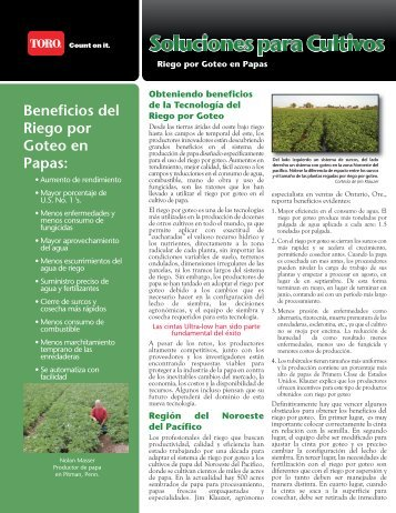 Beneficios del Riego por Goteo en Papas: - Toro Media