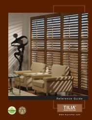 Tilia wood shutters guide - Maxxmar