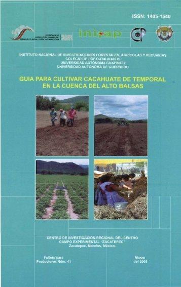 Guía Para Cultivar Cacahuate De Temporal En La ... - COFUPRO